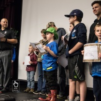Kids receive certificates